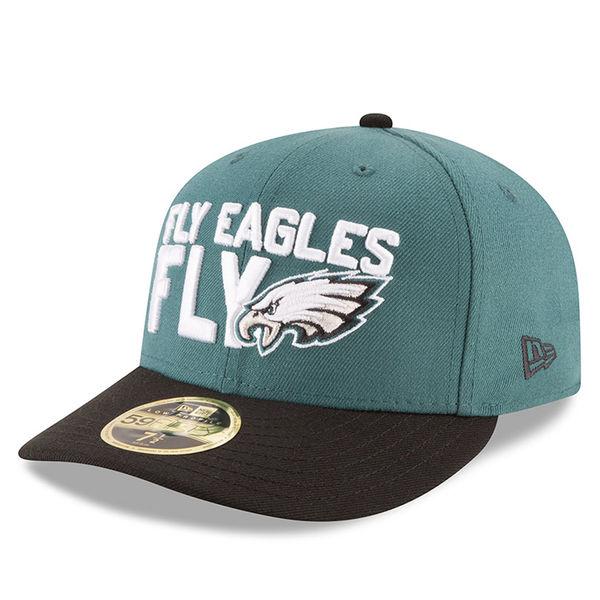 NFL イーグルス 59FIFTY フレックス キャップ/帽子 ロープロファイル 2018 ドラフト スポットライト ニューエラ/New Era グリーン