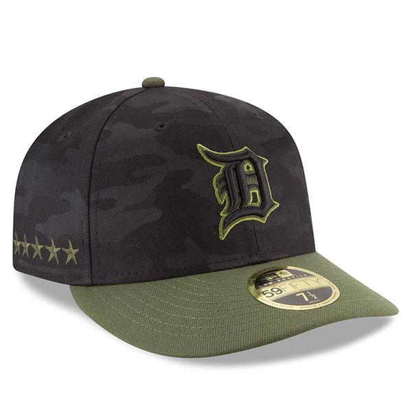 お取り寄せ MLB タイガース 59FIFTY フィッテッド キャップ/帽子 ロープロファイル 2018 メモリアルデー ニューエラ/New Era ブラック