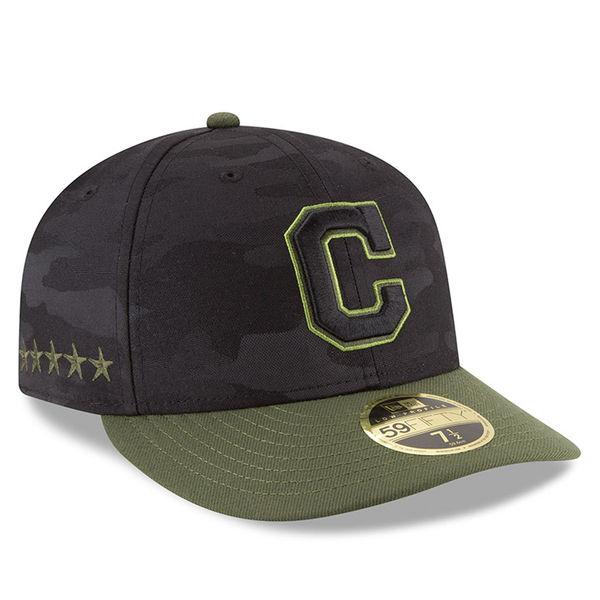 お取り寄せ MLB インディアンス 59FIFTY フィッテッド キャップ/帽子 ロープロファイル 2018 メモリアルデー ニューエラ/New Era ブラック