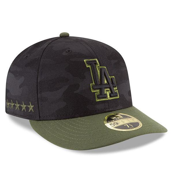 お取り寄せ MLB ドジャース 59FIFTY フィッテッド キャップ/帽子 ロープロファイル 2018 メモリアルデー ニューエラ/New Era ブラック