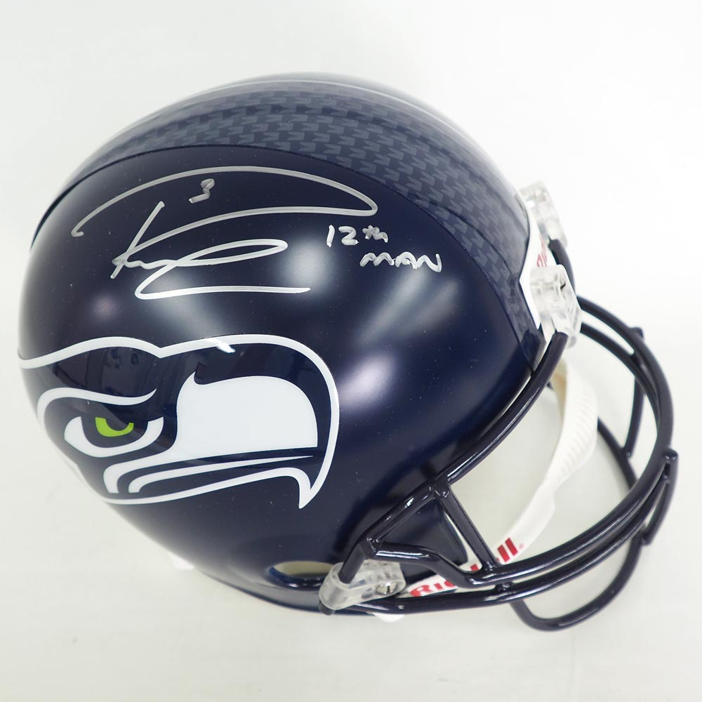 NFL シーホークス ラッセル・ウィルソン 直筆サイン入り ヘルメット ミルクリーク/Mill Creek