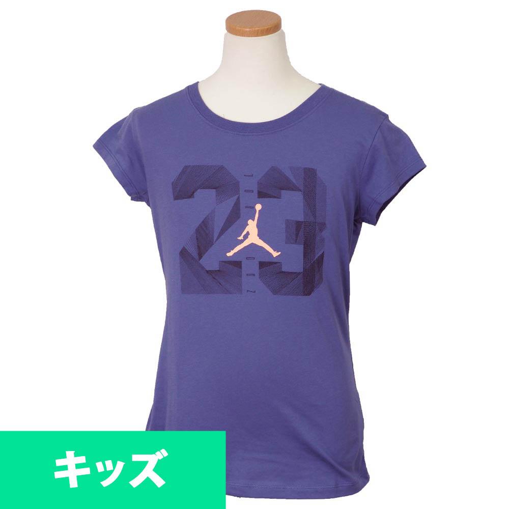 ナイキ ジョーダン/NIKE JORDAN ガールズ Tシャツ 半袖 23 ブルー【1910価格変更】
