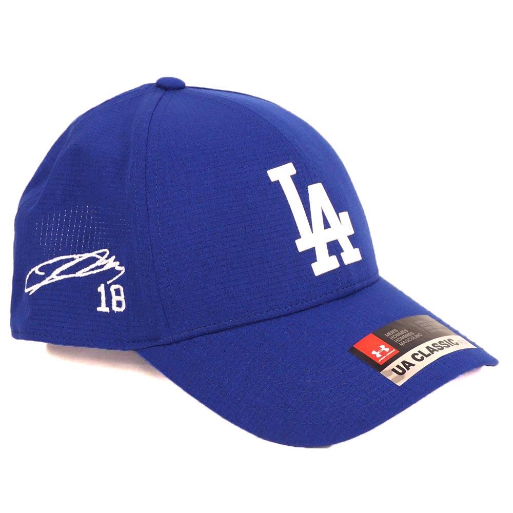 MLB ドジャース Kanta Maeda #18 アジャスタブル キャップ/帽子 カスタマイズ プレイヤーサイン アンダーアーマー/UNDER ARMOUR ロイヤル