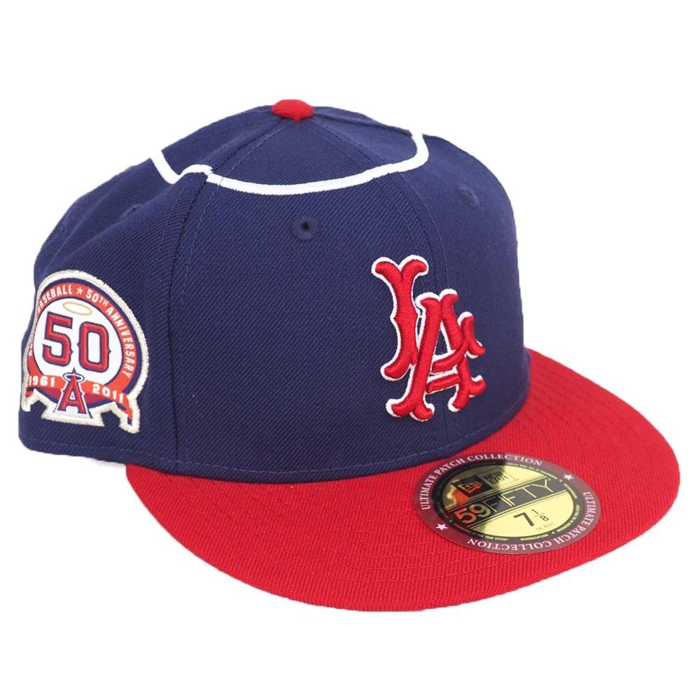 エンゼルス キャップ ニューエラ NEW ERA MLB 59FIFTY フィット アルティメット パッチ 50周年記念 ネイビー【1910セール】【191028変更】