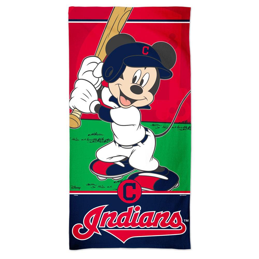 MLB インディアンス ミッキーマウス ビーチタオル マッカーシー/McArthur【1910価格変更】