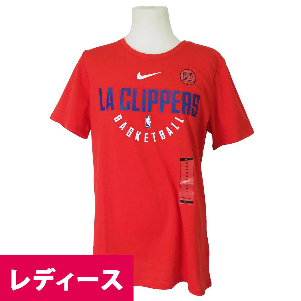 NBA Tシャツ クリッパーズ オフィシャル プラクティス レディース ナイキ/Nike レッド 941996-657【1910セール】【1911NBAt】