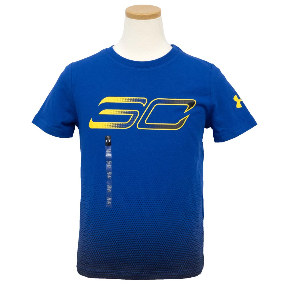 753c4e7e51 Under Armour SC30/Under Armour SC30 kids T-shirt short sleeves player  fading royal