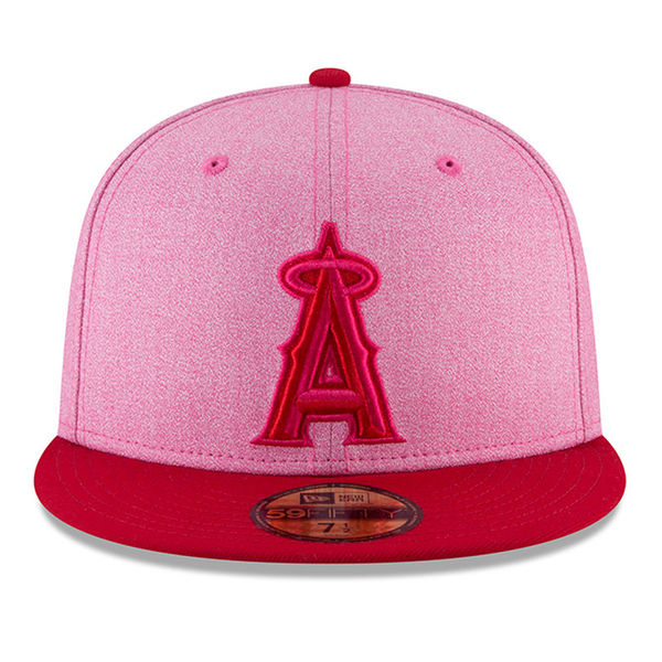MLB NBA NFL Goods Shop  Order MLB Angels 59FIFTY フィッテッドキャップ player wearing  pink color 2018 Mothers D new gills  New Era  a36b9007a19