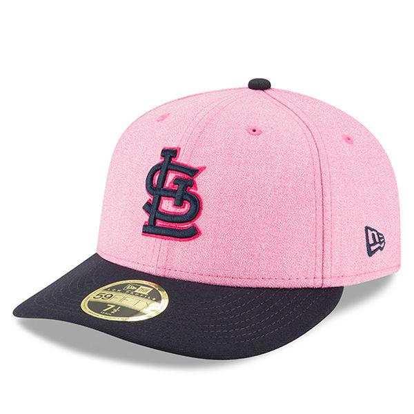 お取り寄せ MLB カージナルス 59FIFTY フィッテッド キャップ ロー プロファイル 選手着用 ピンク カラー 2018 マザーズデイ ニューエラ/New Era
