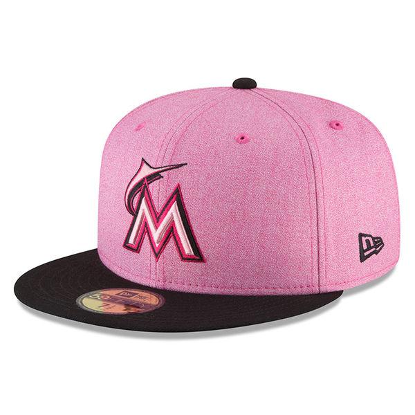 お取り寄せ MLB マーリンズ 59FIFTY フィッテッド キャップ 選手着用 ピンク カラー 2018 マザーズデイ ニューエラ/New Era