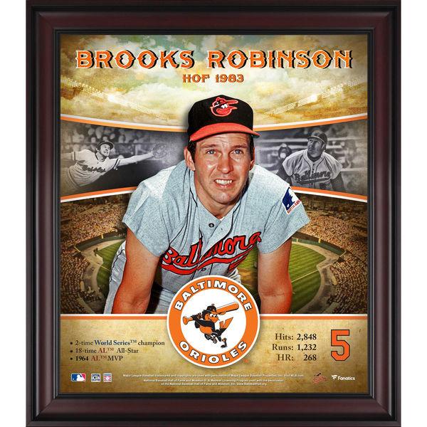 お取り寄せ MLB オリオールズ ブルックス・ロビンソン 殿堂入り プレイヤー コラージュ フレーム