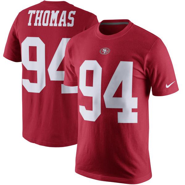 NFL 49ers ソロモン・トーマス プレイヤー プライド ネーム&ナンバー Tシャツ ナイキ/Nike