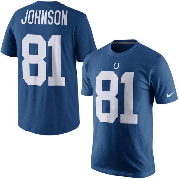 NFL コルツ アンドリュー・ジョンソン プレイヤー プライド ネーム&ナンバー Tシャツ ナイキ/Nike