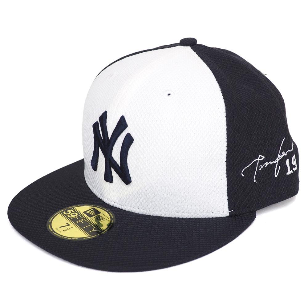 MLB ヤンキース 田中将大 サイン刺繍 キャップ/帽子 オーセンティック ニューエラ/New Era ロード