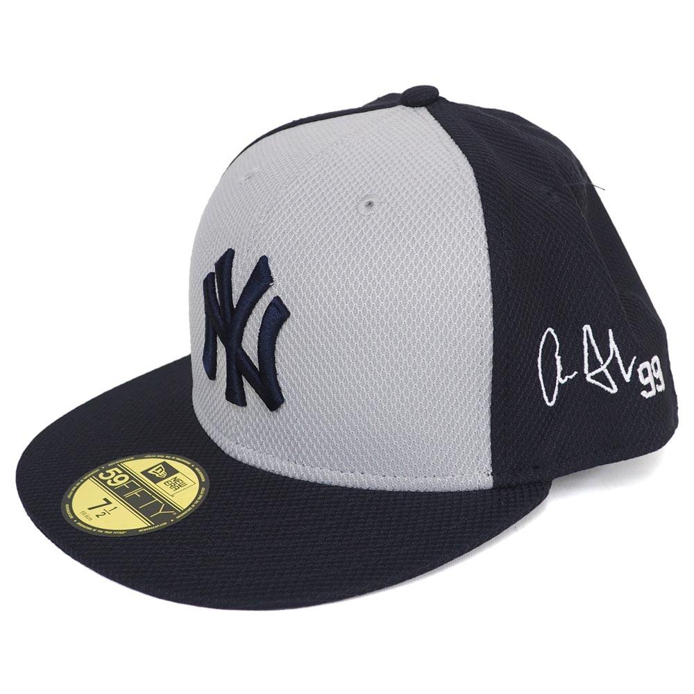 MLB ヤンキース アーロン・ジャッジ サイン刺繍 キャップ/帽子 オーセンティック ニューエラ/New Era ロード