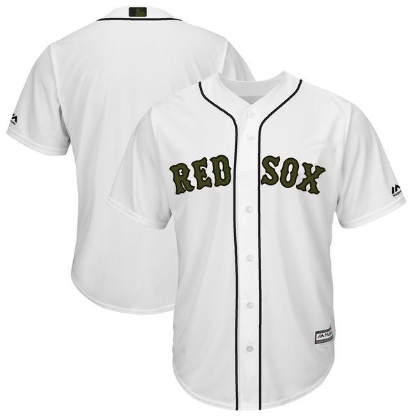 お取り寄せ MLB レッドソックス 2018 メモリアルデー レプリカ ユニフォーム マジェスティック/Majestic ホワイト