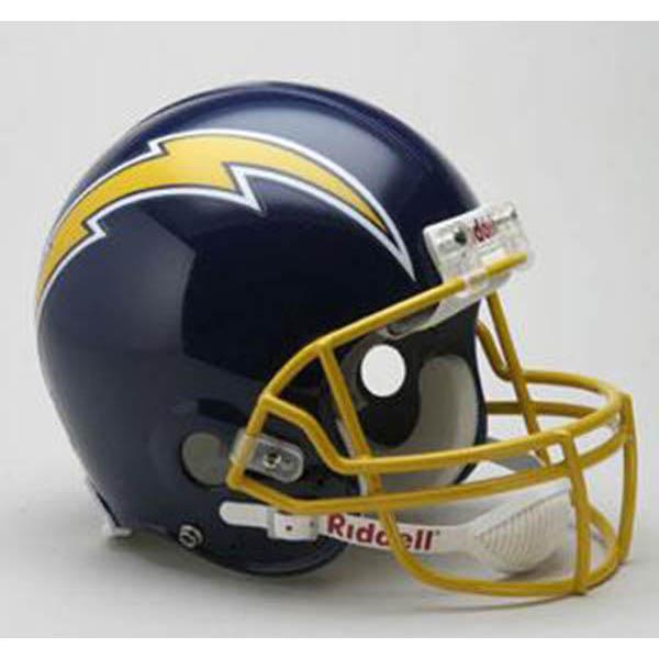 NFL チャージャース オーセンティック ヘルメット 選手着用 スローバック リデル/Riddell 74-87