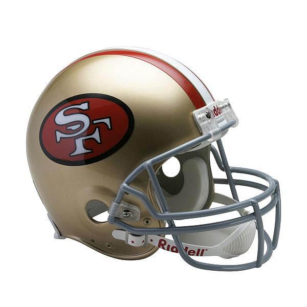 スーパーボウル進出 NFL 49ers オーセンティック ヘルメット 選手着用 VSR4 リデル/Riddell