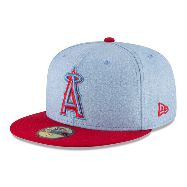 online store 7fc53 ab483 ... closeout order mlb angels player wearing cap hat 2018 fathers d new  gills new era b5208