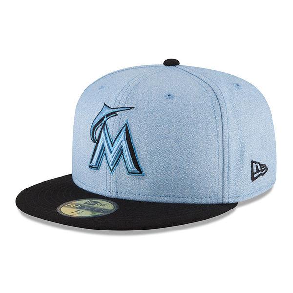 お取り寄せ MLB マーリンズ 選手着用 キャップ/帽子 2018 ファザーズデイ ニューエラ/New Era