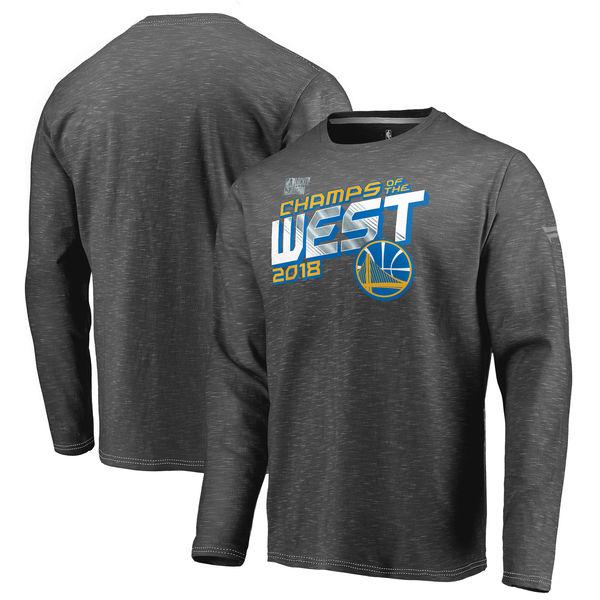 お取り寄せ NBA ウォリアーズ 2018 ウェスタン カンファレンス チャンピオン ロッカールーム ロングスリーブ Tシャツ 長袖