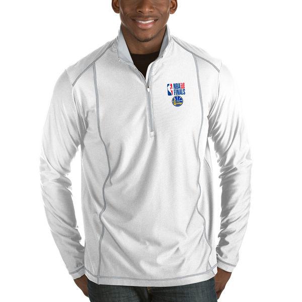 お取り寄せ NBA ウォリアーズ 2018 ファイナル進出記念 ハーフジップ ジャケット アンティグア/Antigua ホワイト