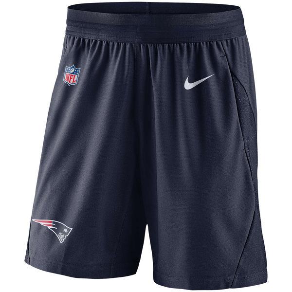 お取り寄せ NFL ペイトリオッツ サイドライン フライ ニット ショーツ ナイキ/Nike ネイビー