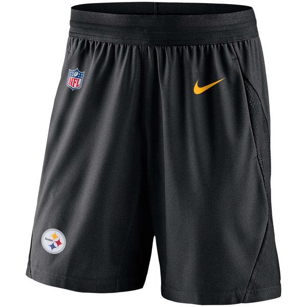 お取り寄せ NFL スティーラーズ サイドライン フライ ニット ショーツ ナイキ/Nike ブラック