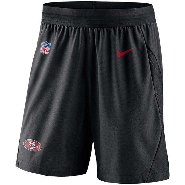 お取り寄せ NFL 49ers サイドライン フライ ニット ショーツ ナイキ/Nike ブラック