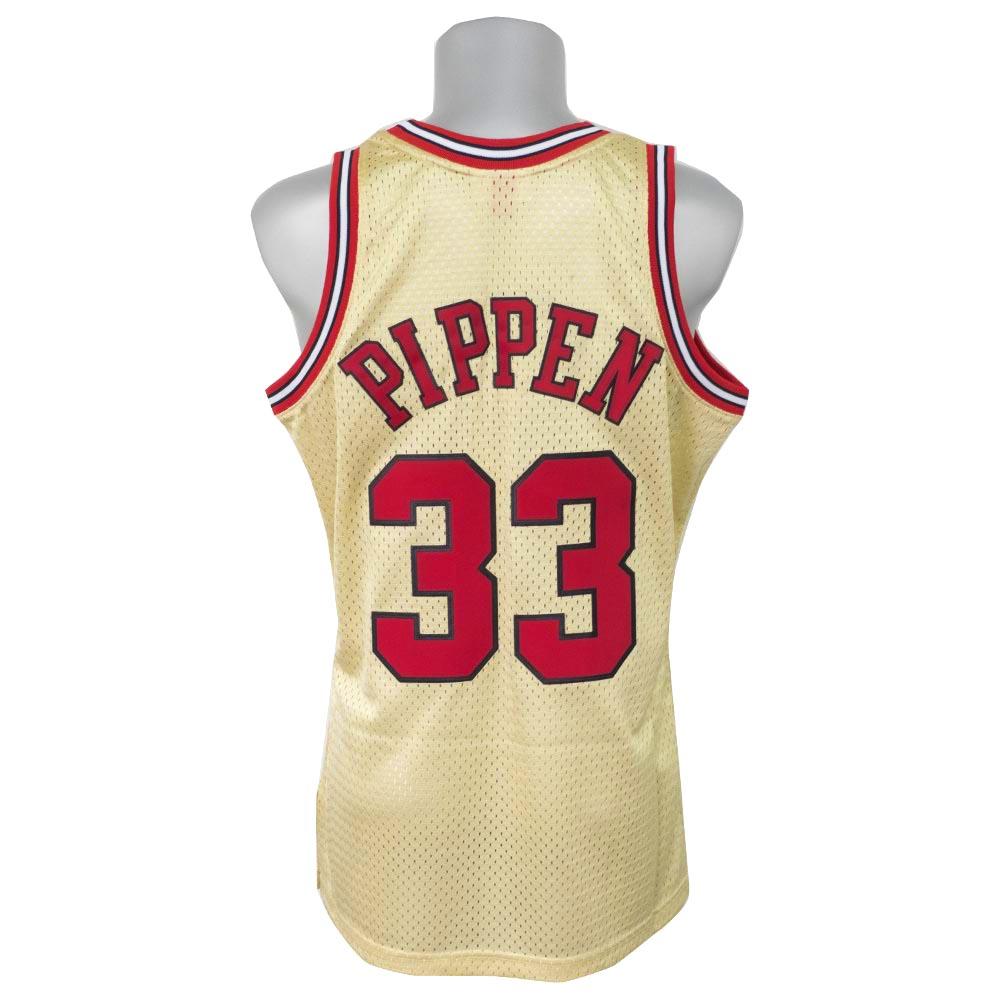 05a175528 NBA Bulls Scottie Pippen 1997 gold swing man uniform   uniform Mitchel   ness  Mitchell   Ness