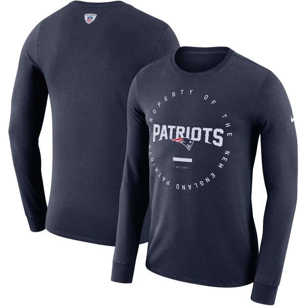NFL ペイトリオッツ サイドライン パフォーマンス ロングTシャツ ナイキ/Nike ネイビー