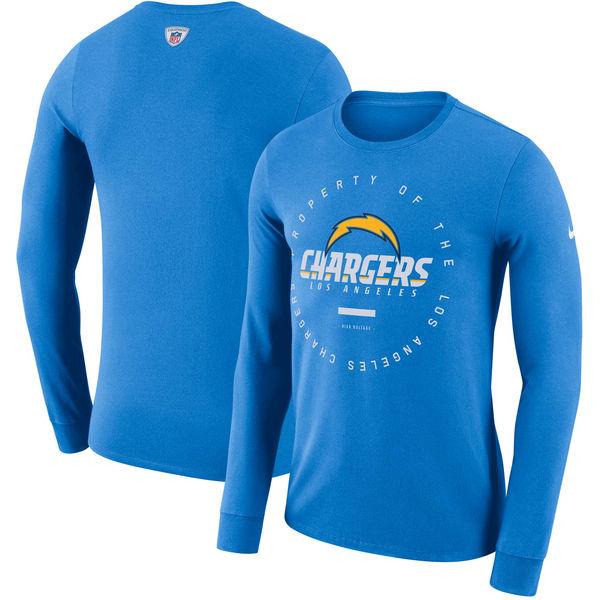 NFL チャージャーズ サイドライン パフォーマンス ロングTシャツ ナイキ/Nike パウダーブルー
