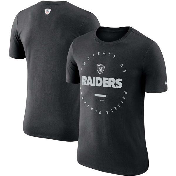 NFL レイダース サイドライン パフォーマンス Tシャツ ナイキ/Nike ブラック