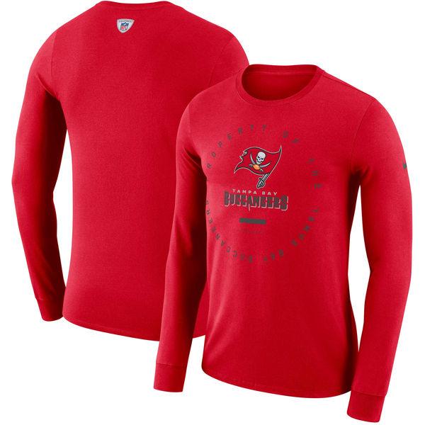 NFL バッカニアーズ サイドライン パフォーマンス ロングTシャツ ナイキ/Nike レッド