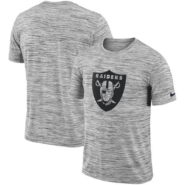 お取り寄せ NFL レイダース Tシャツ 半袖 サイドライン ベロシティ ナイキ/Nike ヘザードブラック