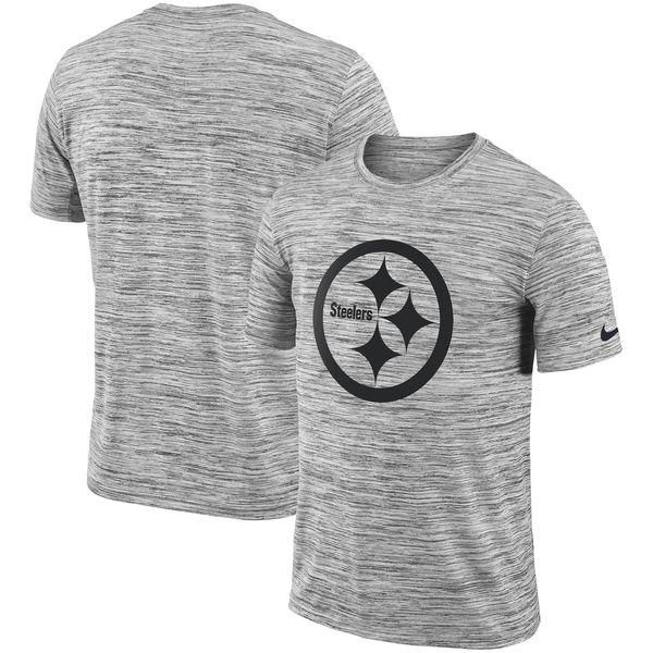 NFL スティーラーズ Tシャツ 半袖 サイドライン ベロシティ ナイキ/Nike ヘザードブラック