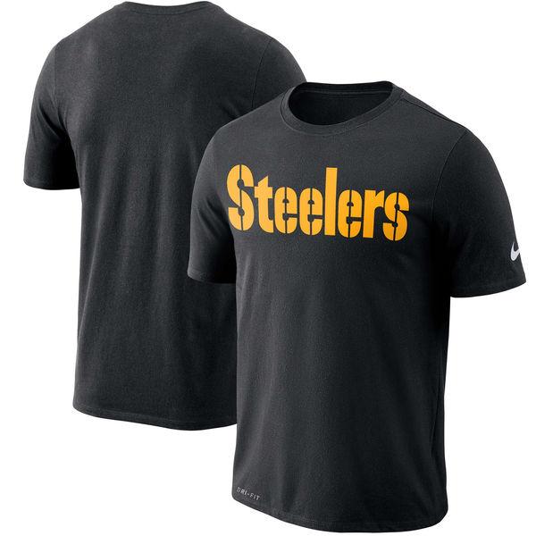 NFL スティーラーズ ドライフィット ワードマーク Tシャツ ナイキ/Nike ブラック