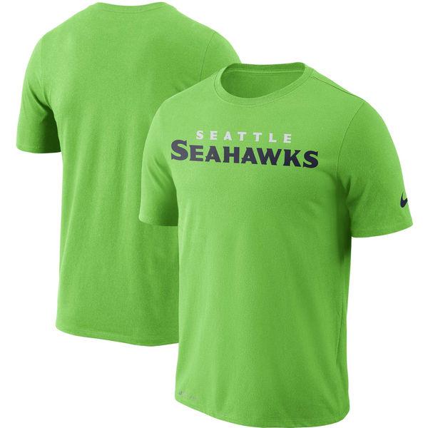 NFL シーホークス ドライフィット ワードマーク Tシャツ ナイキ/Nike ネオングリーン
