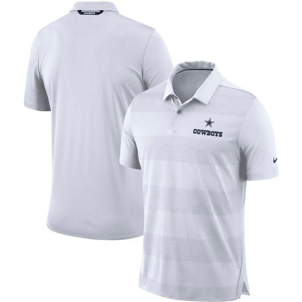 お取り寄せ NFL カウボーイズ サイドライン ポロシャツ ナイキ/Nike ホワイト
