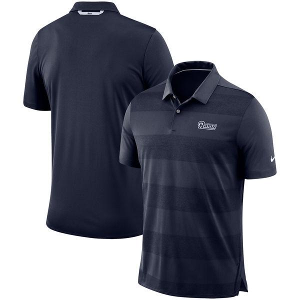 お取り寄せ NFL ラムズ サイドライン ポロシャツ ナイキ/Nike ネイビー