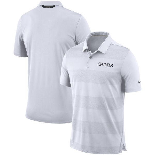 お取り寄せ NFL セインツ サイドライン ポロシャツ ナイキ/Nike ホワイト