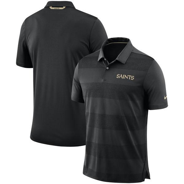 NFL セインツ サイドライン ポロシャツ ナイキ/Nike ブラック