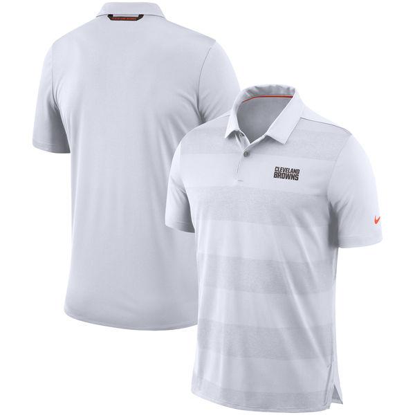 お取り寄せ NFL ブラウンズ サイドライン ポロシャツ ナイキ/Nike ホワイト