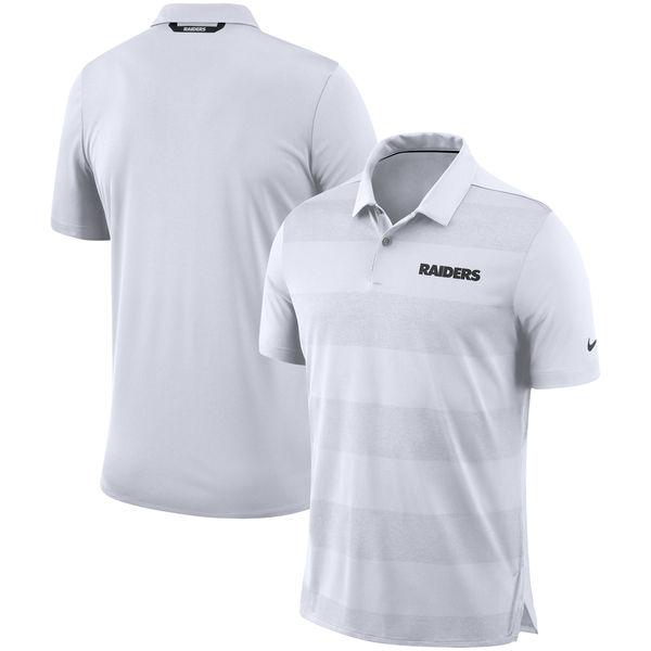 NFL レイダース サイドライン ポロシャツ ナイキ/Nike ホワイト