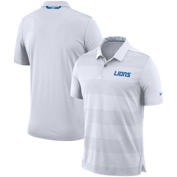 お取り寄せ NFL ライオンズ サイドライン ポロシャツ ナイキ/Nike ホワイト