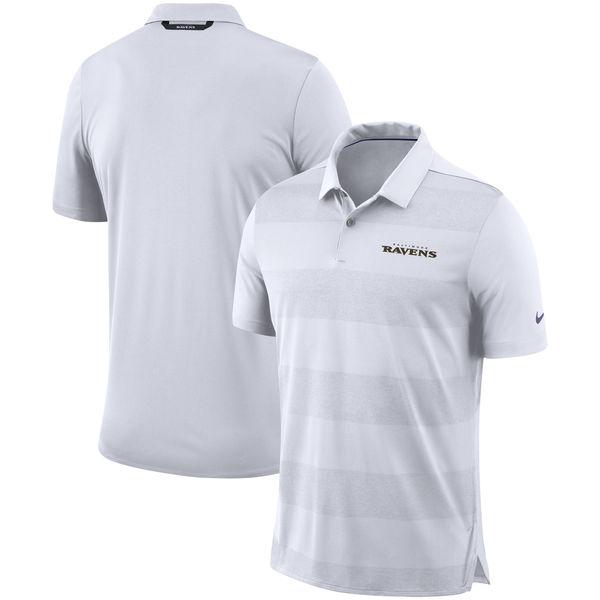 NFL レイブンズ サイドライン ポロシャツ ナイキ/Nike ホワイト