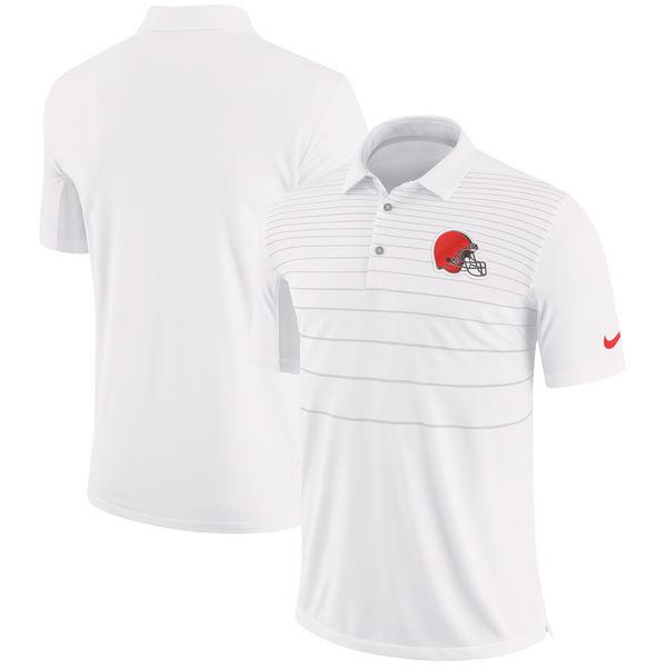 NFL ブラウンズ サイドライン パフォーマンス ポロシャツ ナイキ/Nike ホワイト