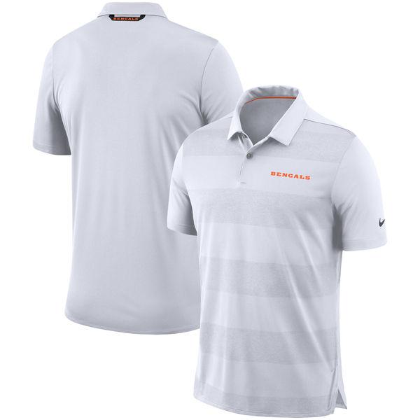 NFL ベンガルズ サイドライン ポロシャツ ナイキ/Nike ホワイト