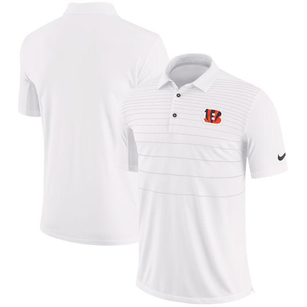 NFL ベンガルズ サイドライン パフォーマンス ポロシャツ ナイキ/Nike ホワイト