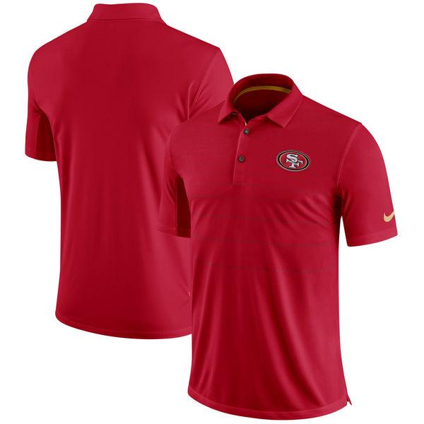 NFL 49ers サイドライン パフォーマンス ポロシャツ ナイキ/Nike スカーレット